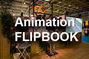 animation flipbook avec texte
